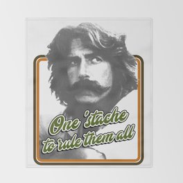 One 'stache to rule them all Throw Blanket