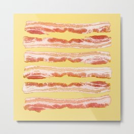 Bacon, Raw Metal Print