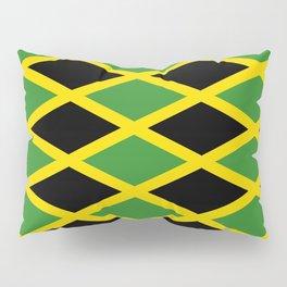 Flag of Jamaica 3-Jamaican,Bob Marley,Reggae,rastafari,cannabis,ganja,america,south america,ragga Pillow Sham
