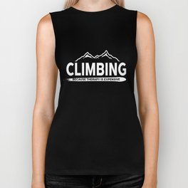 Climbing Mountaineer Mountain Hiking Outdoor Activity Adventurer Gifts Biker Tank