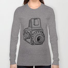 Medium Format SLR Camera Drawing Long Sleeve T-shirt