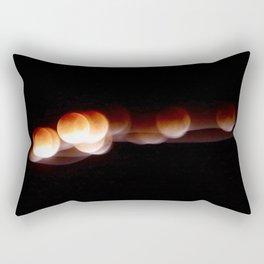 Super Blue Blood Moon Trails Rectangular Pillow