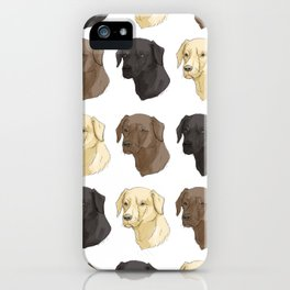 Labradors of Every Flavor iPhone Case