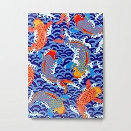 Koi fish / japanese tattoo style pattern Metal Print