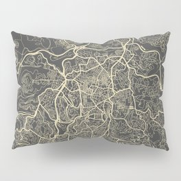 Jerusalem Map Pillow Sham