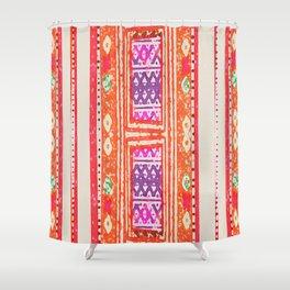 tangerine tribal Shower Curtain