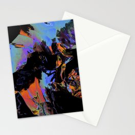 Looks like paintball in the dark Stationery Cards