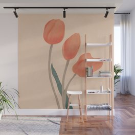 Orange Tulips Wall Mural