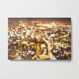 Defocussed city at night Metal Print