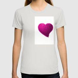 Pink heart, Pink love heart, Pink Heart art, Love heart print, Large heart print, Valentines Heart T-shirt