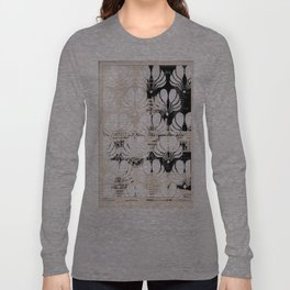 Newspaper Floral Cut Out Long Sleeve T-shirt