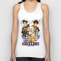 avatar the last airbender Tank Tops featuring Team Avatar by Collectif PinUp!