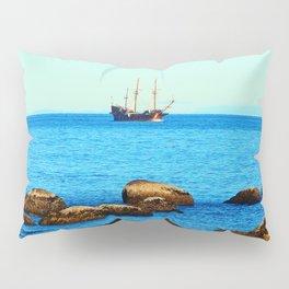 Spanish Galeon by the Rocks Pillow Sham