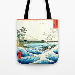 The Great Wave. The Sea At Satta Tote Bag