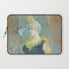 """Henri de Toulouse-Lautrec """"La Clownesse Cha-U-Kao"""" Laptop Sleeve"""