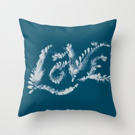 Love Cyanotype Throw Pillow