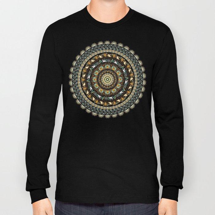 Pug Yoga Medallion Long Sleeve T-shirt