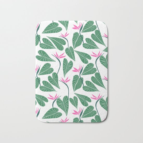 Tropical Forest Pattern Bath Mat
