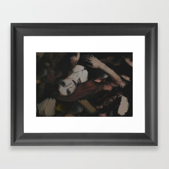 Tangle Abstract Portrait Framed Art Print