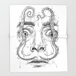 octopus dali Throw Blanket