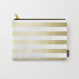 Simply Striped Gilded Palace Gold Carry-All Pouch