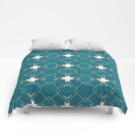 Ethnic pattern in blue Comforters