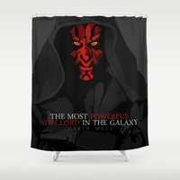 sith Shower Curtains featuring sith lord by shizoy