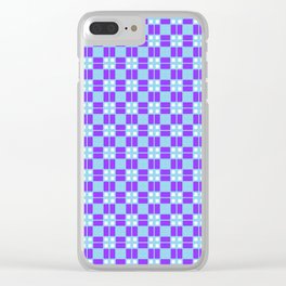 Blue Violet Cell Checks Clear iPhone Case