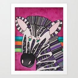 Dazzling Zebra, Ziggy Art Print