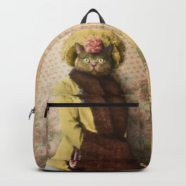 Lady Vanderkat with Roses Backpack