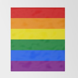 Pride Rainbow Colors Throw Blanket