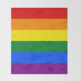 Pride Rainbow Colors Throw Blanket