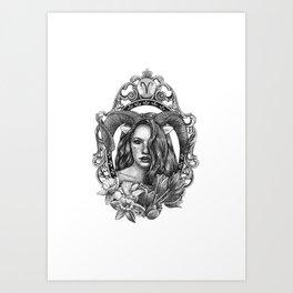 Aries sign Art Print