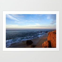 Water meets Sand on the Beach in Los Cabos Mexico Art Print