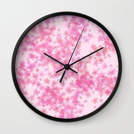 Pink Sakura Blossoms Wall Clock