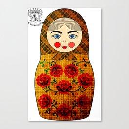 Flower Matryoshka/Nesting Doll Canvas Print