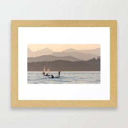 Stand Up Paddle Surf on Jericho Park Framed Art Print