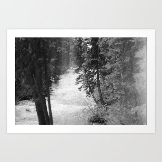 Crashing Through Trees Art Print