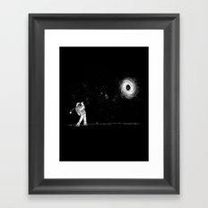 Black Hole in One Framed Art Print