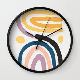 Rainbow Shapes Wall Clock