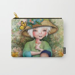 Betty in her Garden Carry-All Pouch
