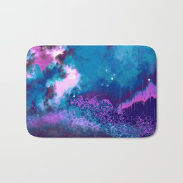 """The Crystal Forest"" (Blue/Pink) Digital Painting // Fine Art Print Bath Mat"