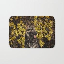 Shepherds love the spring Bath Mat