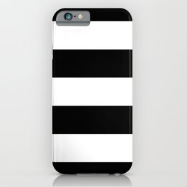 Stripe Black & White Horizontal iPhone Case