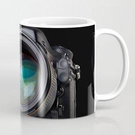 DSLR camera on black Coffee Mug