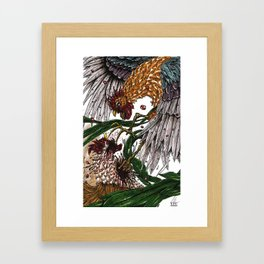 Cock Fight  Framed Art Print