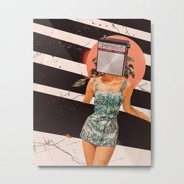 Good vibes girl Metal Print