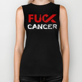 Awareness : Fuck CANCER #1 Biker Tank