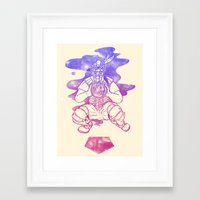 dreamcatcher Framed Art Prints featuring Dreamcatcher by Jonah Makes Artstuff