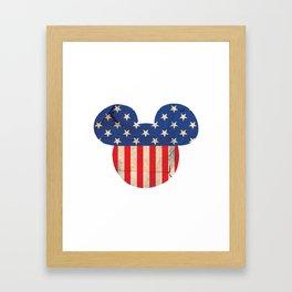 M Mouse Framed Art Print